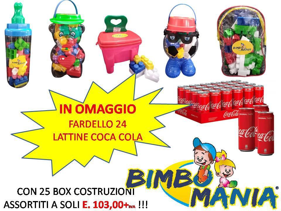 PROMO 25 MEGA BOX COSTRUZIONI + 24 COCACOLA IN OMAGGIO